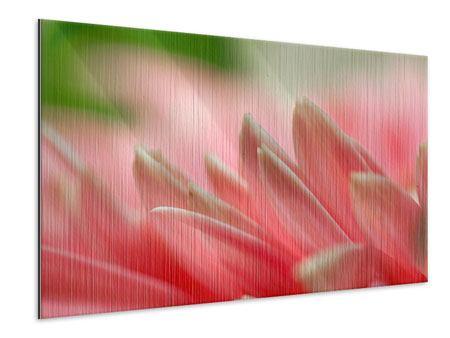 Metallic-Bild Close Up einer Blüte