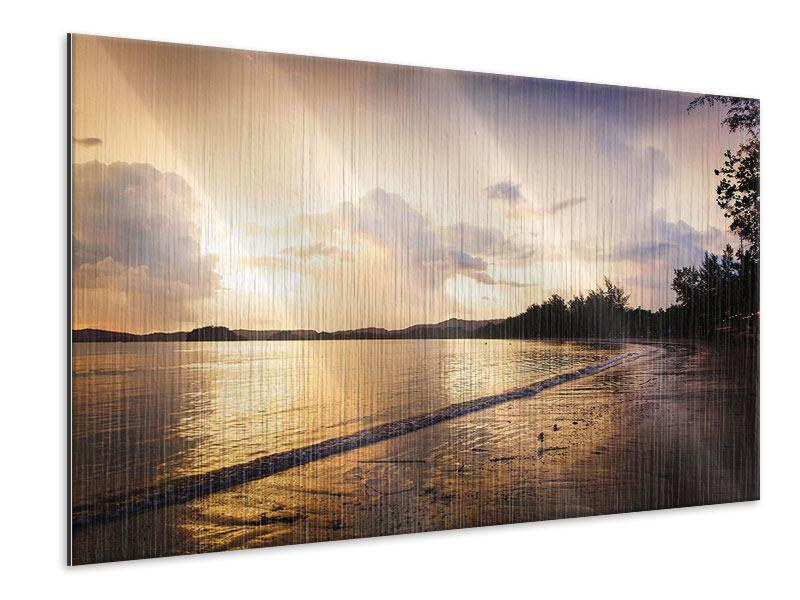 Metallic-Bild Das Ufer
