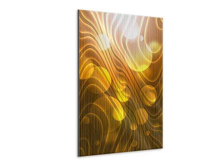 Metallic-Bild Abstrakte Kugelwellen
