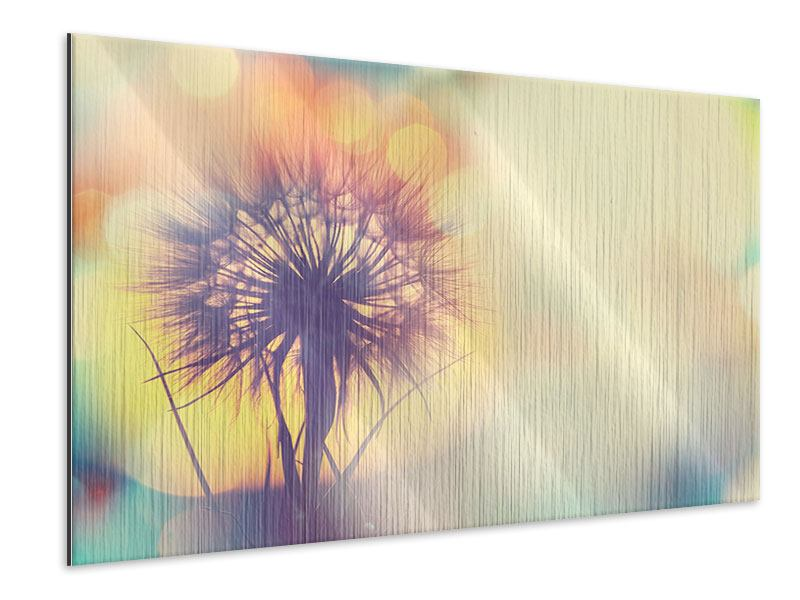 Metallic-Bild Die Pusteblume im Licht