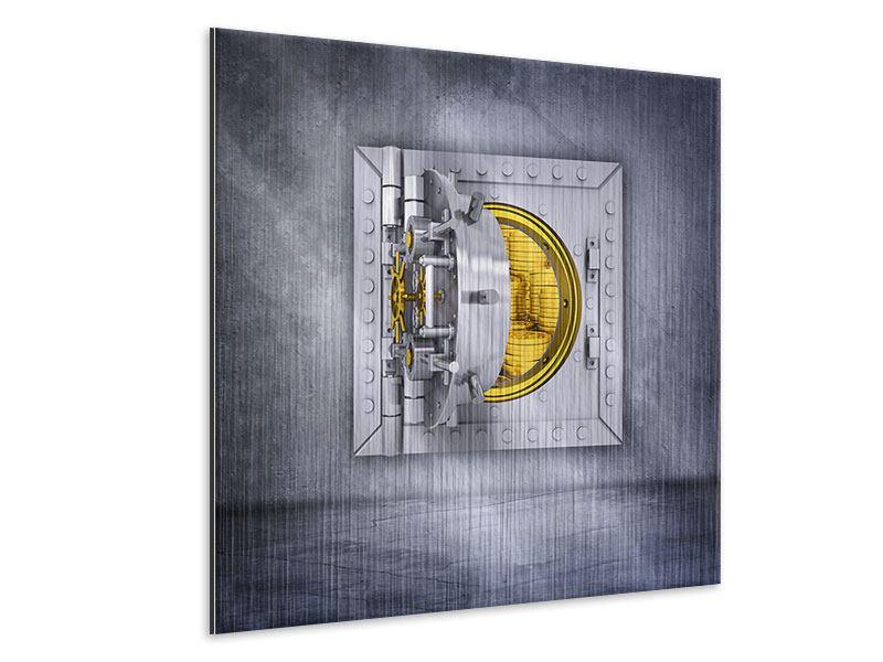 Metallic-Bild Gefüllter Tresor