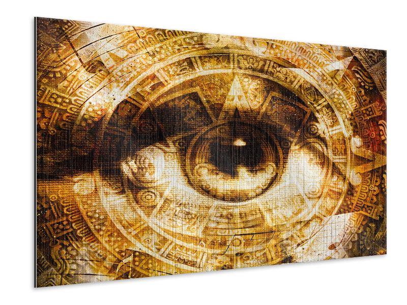 Metallic-Bild Fraktales Auge