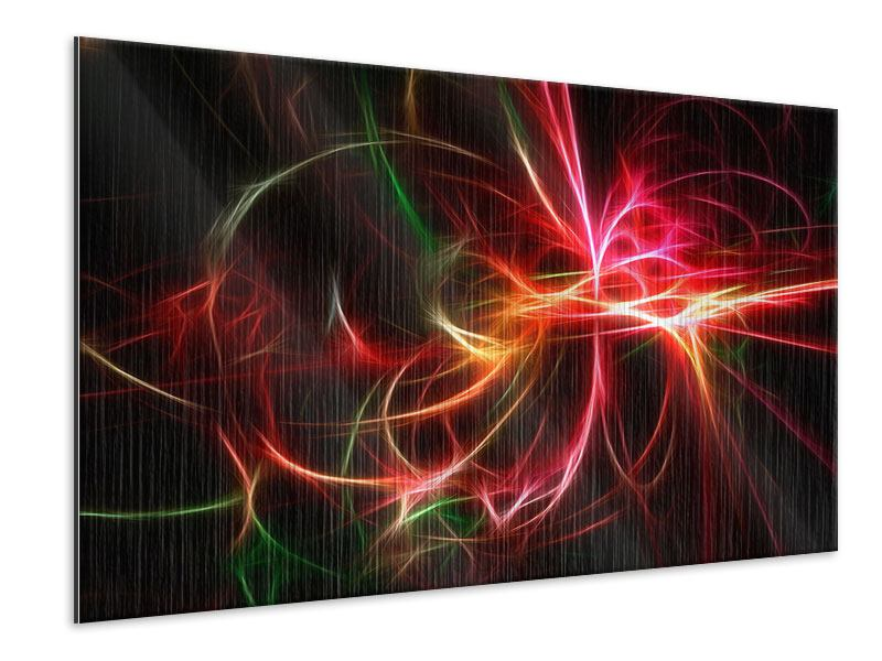 Metallic-Bild Fraktales Lichtspektakel