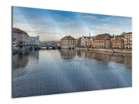 Metallic-Bild Kosmopolitisches Zürich