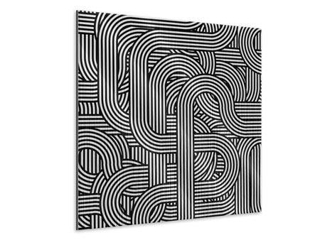 Metallic-Bild 3D Black & White