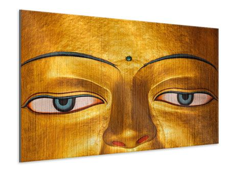 Metallic-Bild Die Augen eines Buddhas