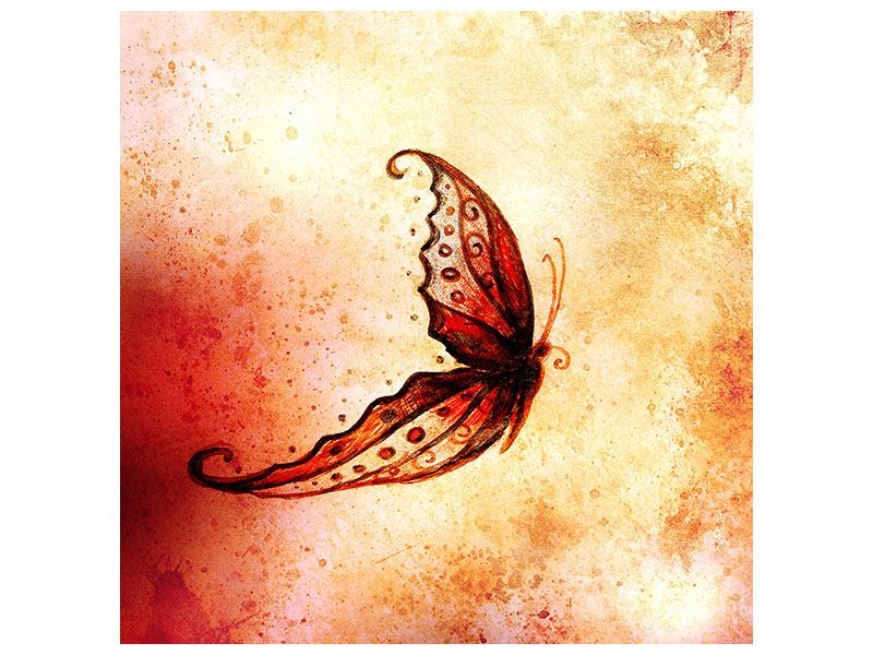 Metallic-Bild Butterfly Gemälde