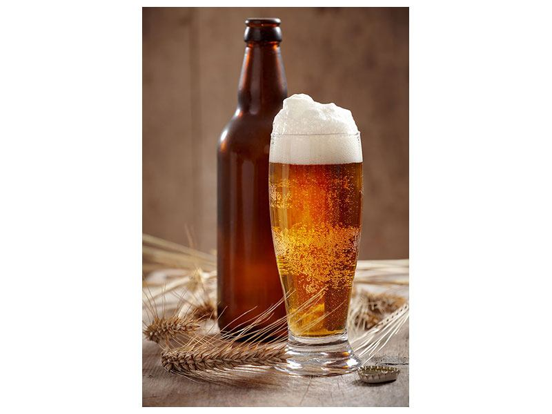 Metallic-Bild Bier mit Schaum