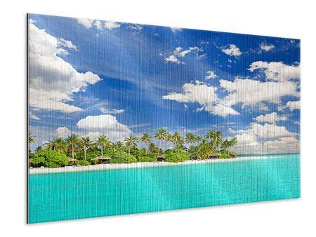 Metallic-Bild Meine Insel