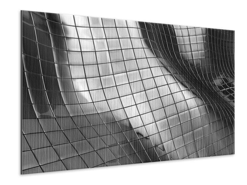 Metallic-Bild Abstrakter Stahl