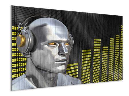 Metallic-Bild Futuristischer DJ