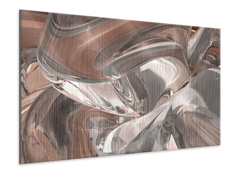 Metallic Print Abstract Glass Tiles