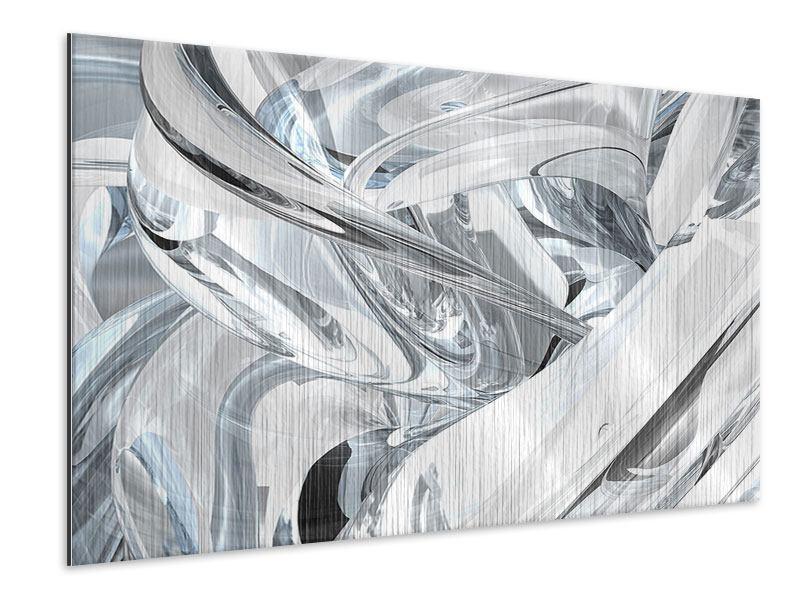 Metallic-Bild Abstrakte Glasbahnen