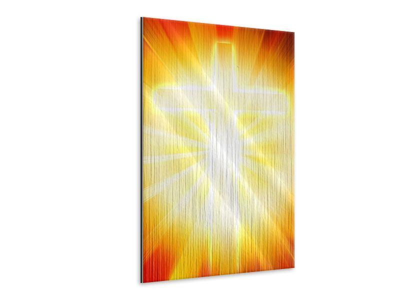 Metallic-Bild Heiliges Kreuz im Licht