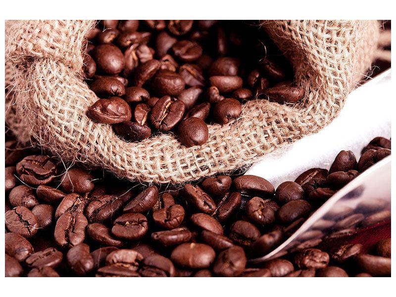 Metallic-Bild XXL Kaffeebohnen