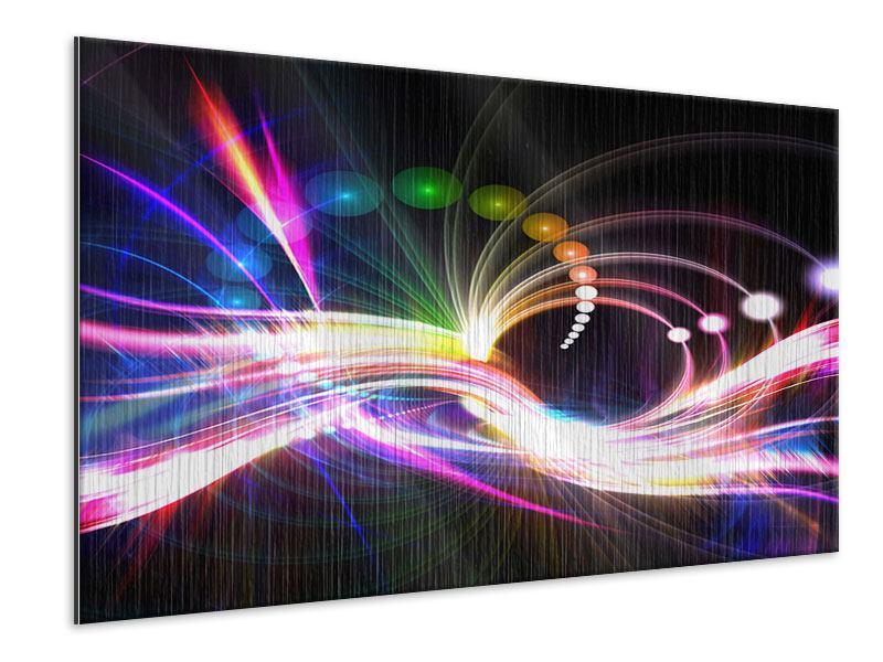 Metallic-Bild Abstrakte Lichtreflexe