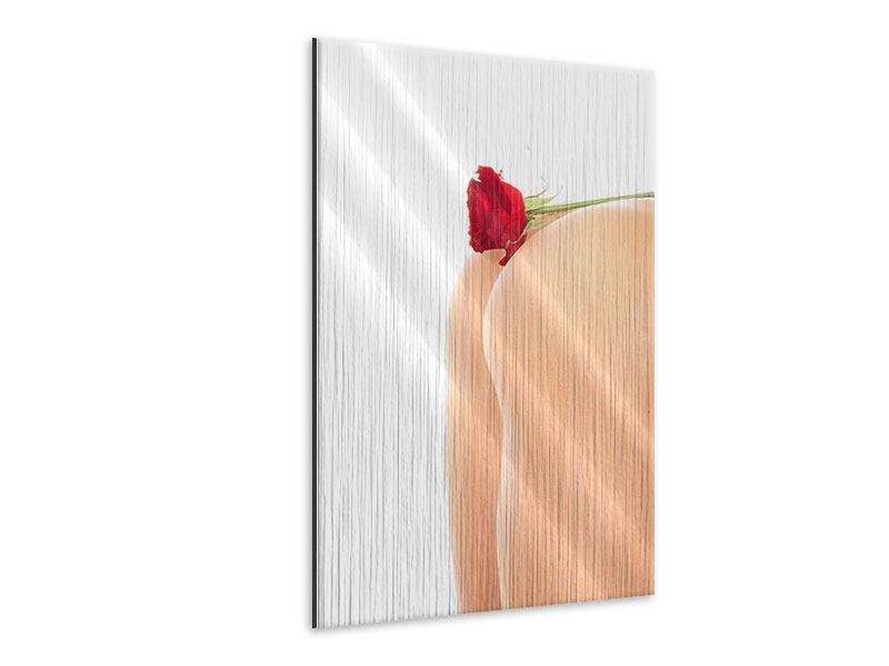 Metallic-Bild Verführerische Rose