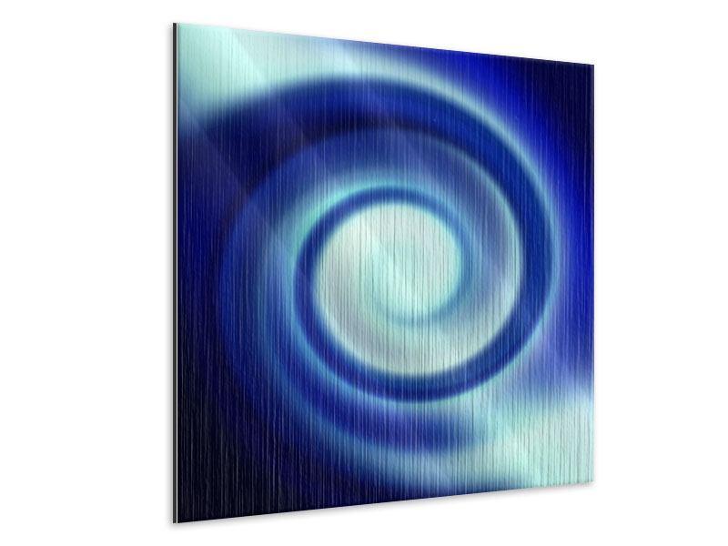 Metallic-Bild Abstrakte Blaue Wirbel