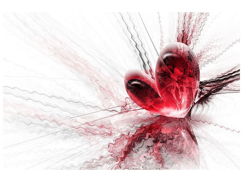 Metallic-Bild Herzspiegelung