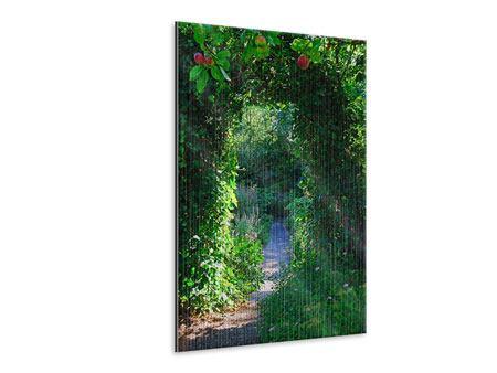 Metallic-Bild Im Paradiesgarten