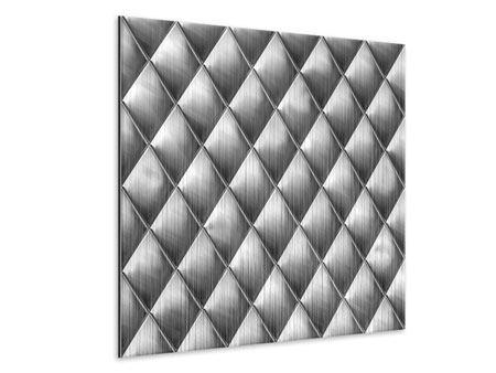 Metallic-Bild 3D-Rauten Silbergrau