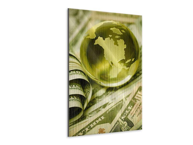 Metallic-Bild Geld regiert die Welt