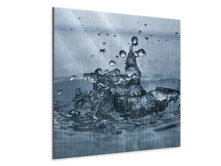 Metallic-Bild Wassertropfen