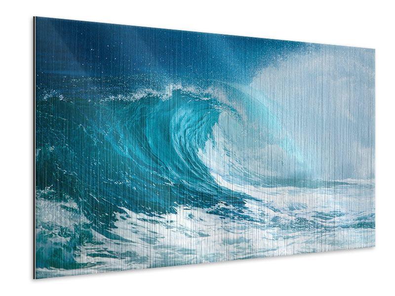 Metallic-Bild Die perfekte Welle