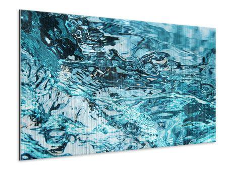 Metallic-Bild Schönheit Wasser