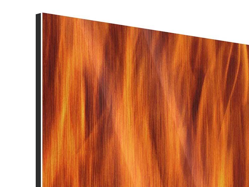 Metallic-Bild Feuer Close Up