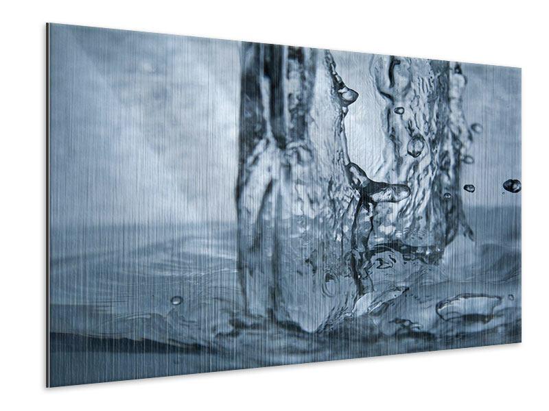 Metallic-Bild Wasserdynamik