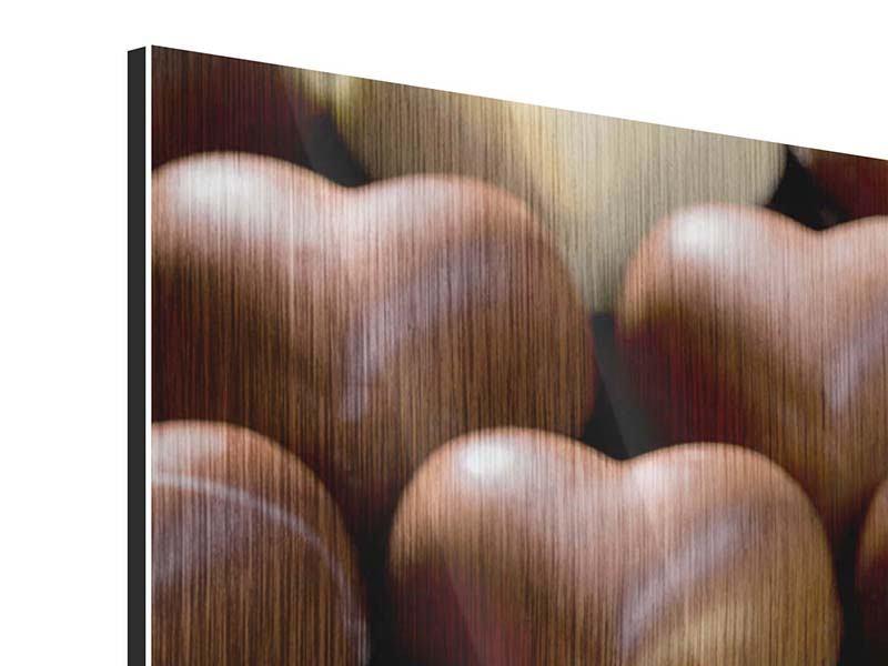 Metallic-Bild Süsse Herzen