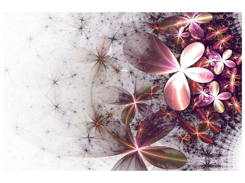 Metallic-Bild Abstrakte Blumen