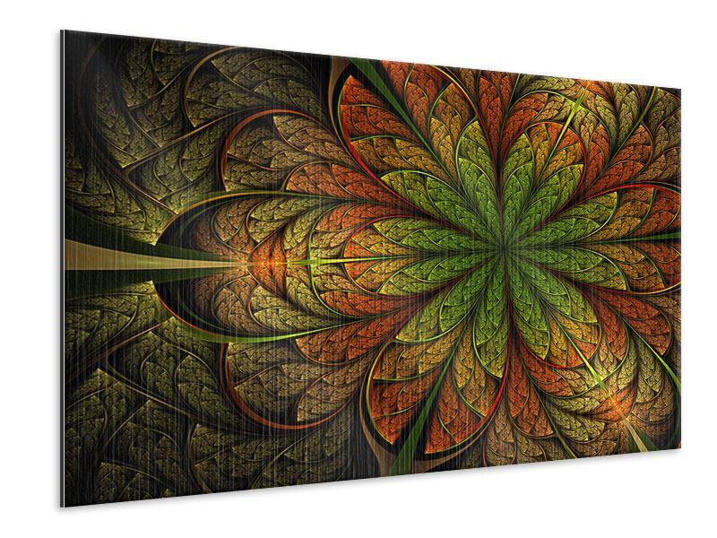 Metallic-Bild Abstraktes Blumenmuster