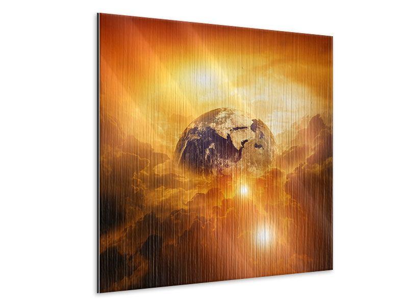 Metallic-Bild Mystischer Planet Erde
