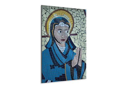 Metallic-Bild Jungfrau Maria Mosaik