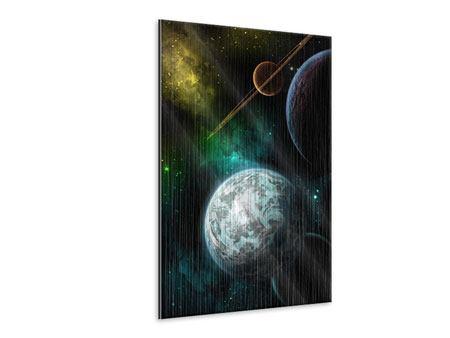 Metallic-Bild Der Weltraum