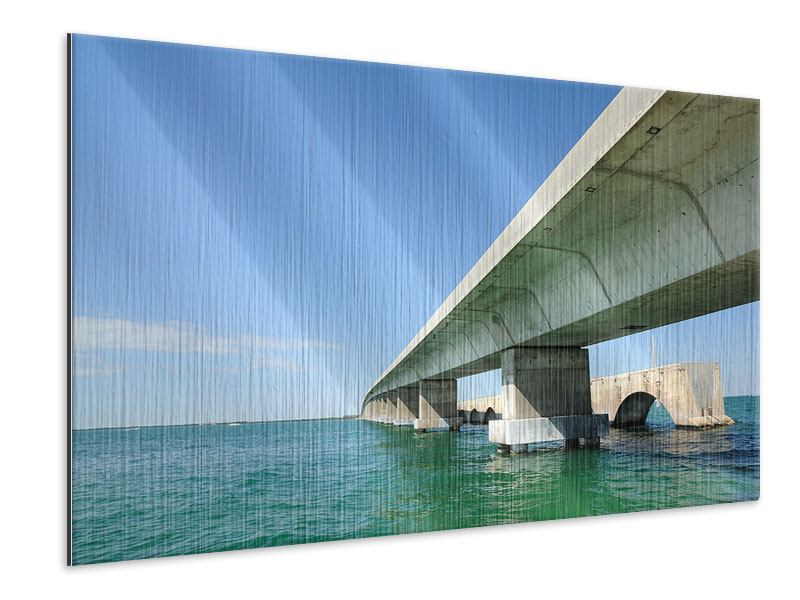 Metallic-Bild Seven Mile Bridge
