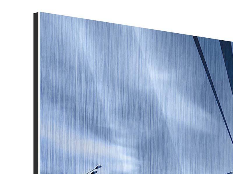 Metallic-Bild Moderne Hängebrücke