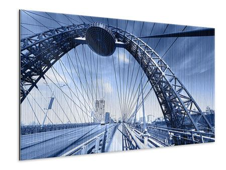 Metallic-Bild Schiwopisny-Brücke