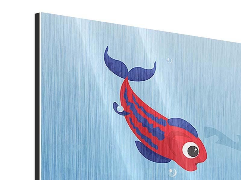 Metallic-Bild Fische im Wasser