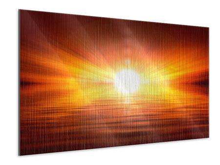 Metallic-Bild Glühender Sonnenuntergang