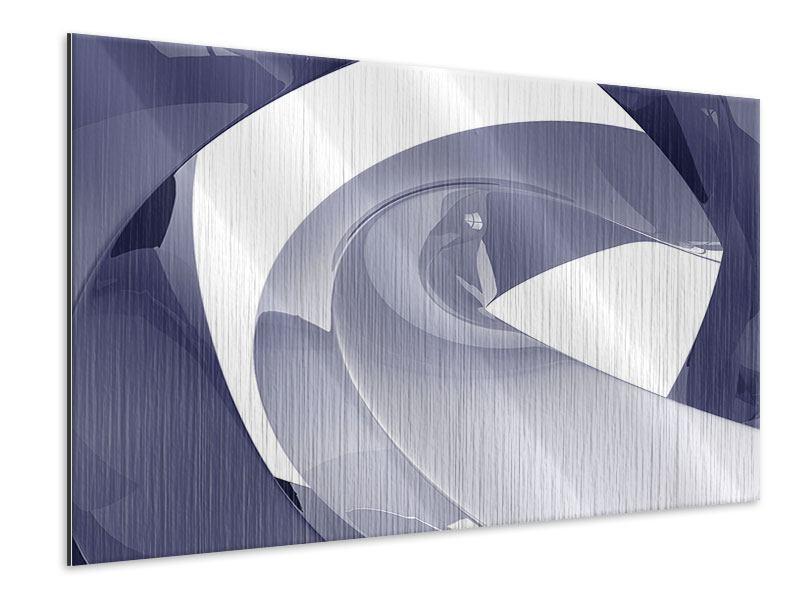 Metallic-Bild Abstrakte Schwingungen