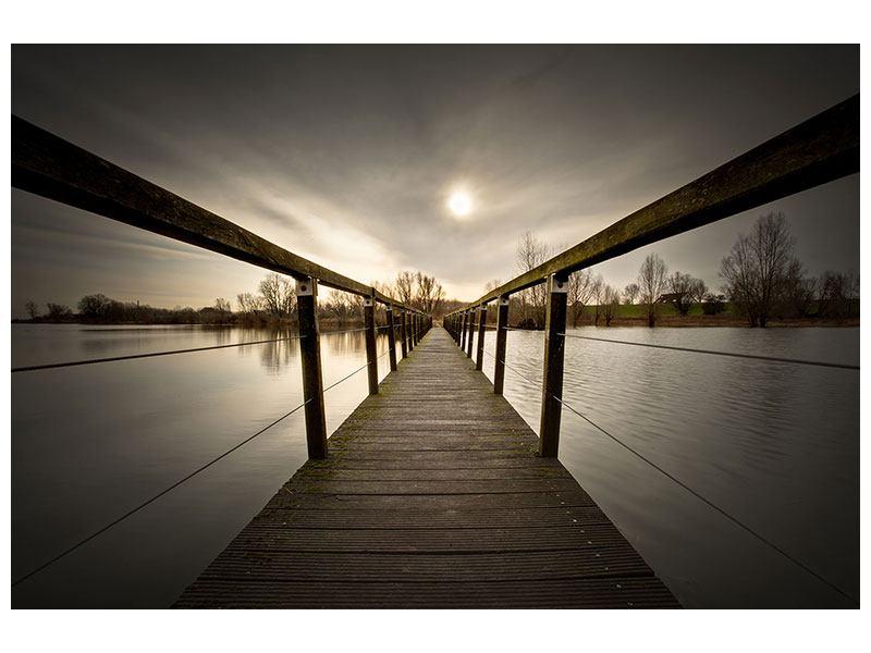 Metallic-Bild Die Holzbrücke