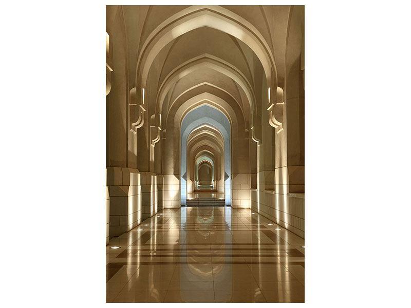 Metallic-Bild Königlicher Palast in Maskat