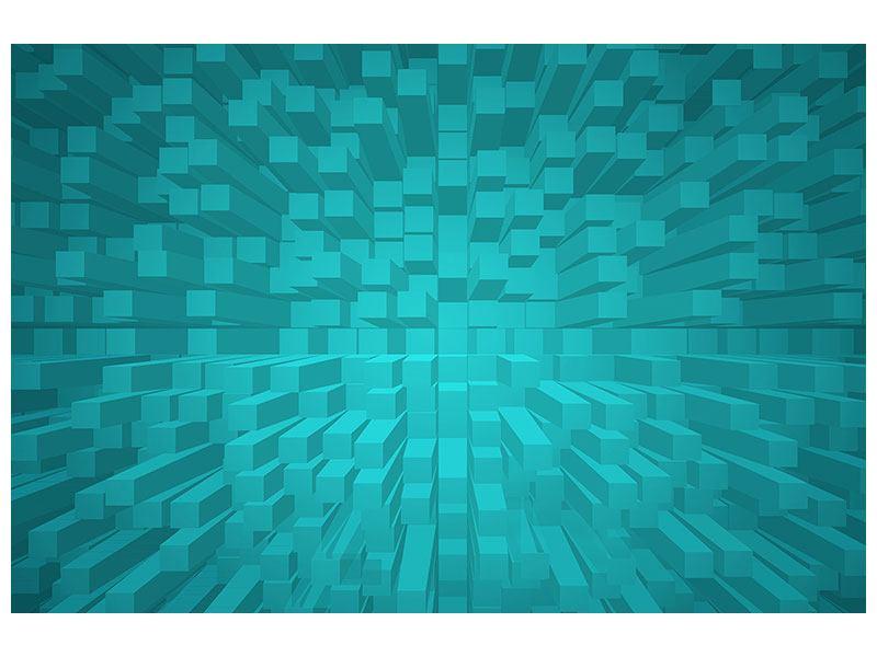Metallic-Bild 3D-Kubusse
