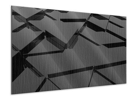 Metallic-Bild 3D-Dreiecksflächen