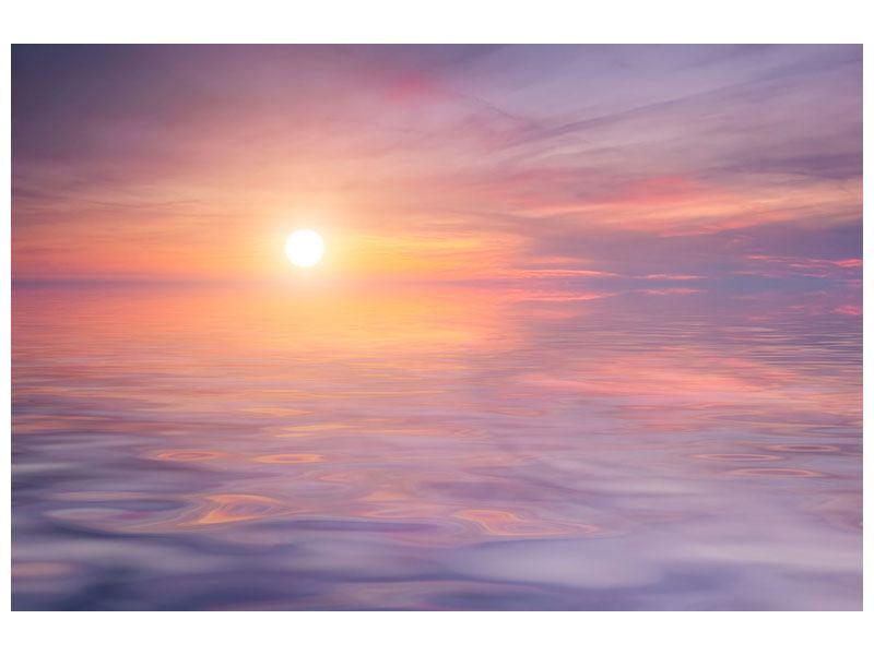 Metallic-Bild Sonnenuntergang auf See