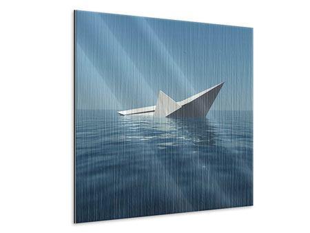 Metallic-Bild Papierschiffchen