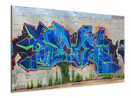 Metallic-Bild Graffiti NYC